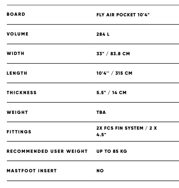 Fanatic Fly Air Pocket